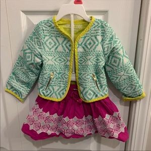 Genuine Kids 18m blazer and skirt outfit girls